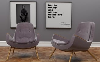 Metro armchair by inDahouze 3D Model