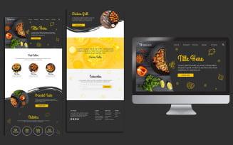 Chilli Restaurant Landing Page Design PSD Template