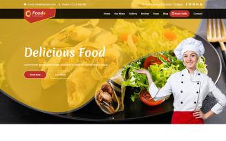 Fooda - Food & Restaurant Landing Page Template