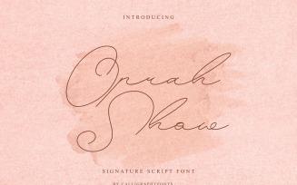 Oprah Show Handwriting Script Font