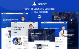 Techit - IT Solution & Consultant HTML5 Website Template