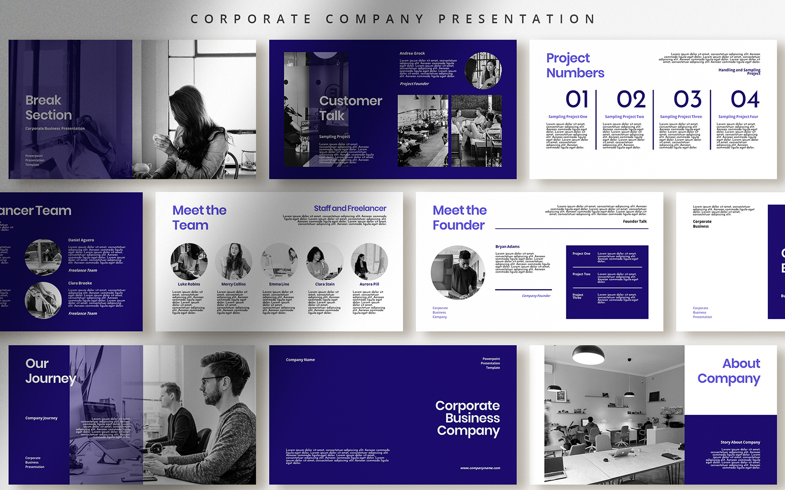 Professional Corporate Business PPTX PowerPoint Template