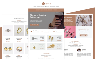 Tessa – Multipurpose Jewelry Email Template Responsive Newsletter Template