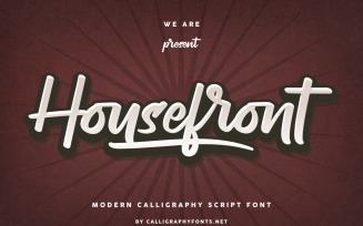 Housefront Classic Calligraphy Fonts