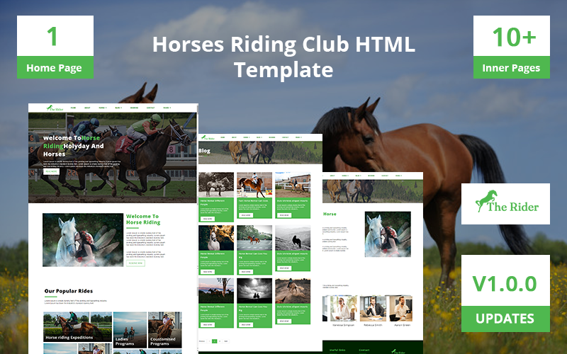 TheRider- Horses Riding Club HTML Template