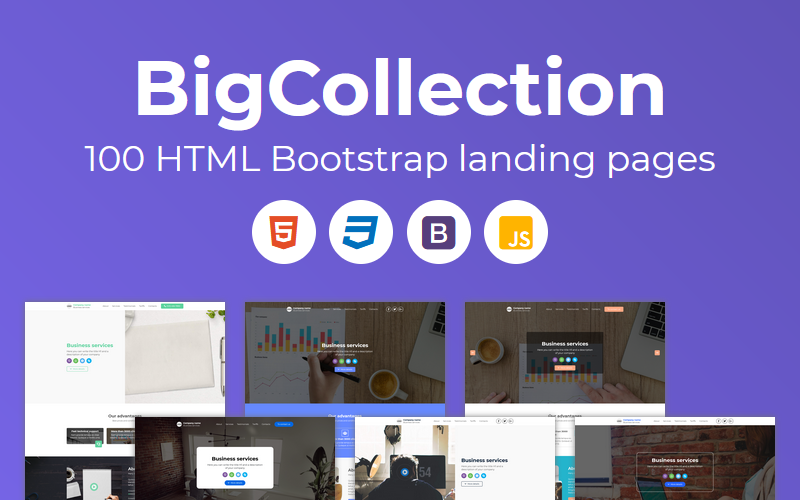 BigCollection - 100 HTML Bootstrap Landing Page Templates