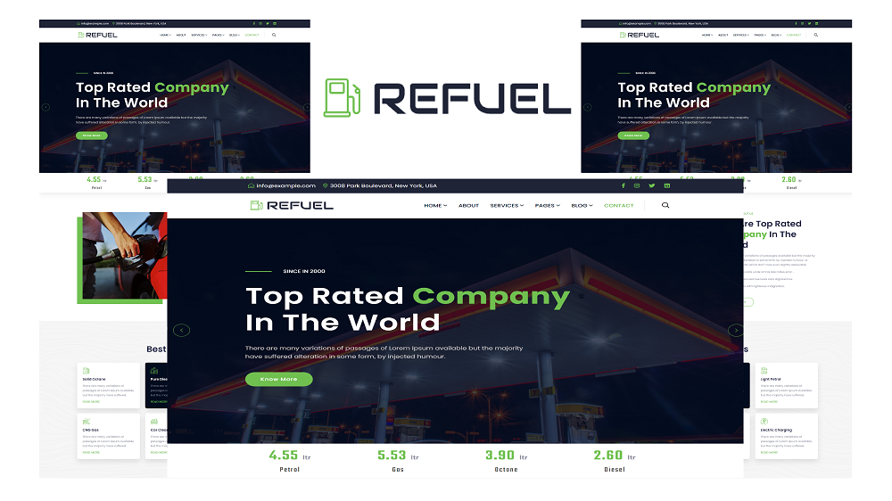 Refuel - Petrol Pump and Gas Station HTML5 Website template