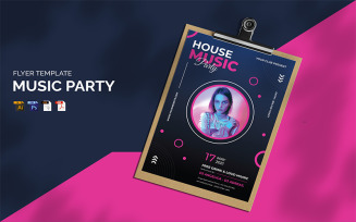 Free Music Party Flyer Template