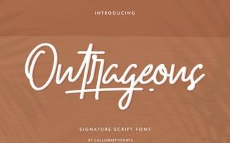 Outrageous Signature Script Fonts