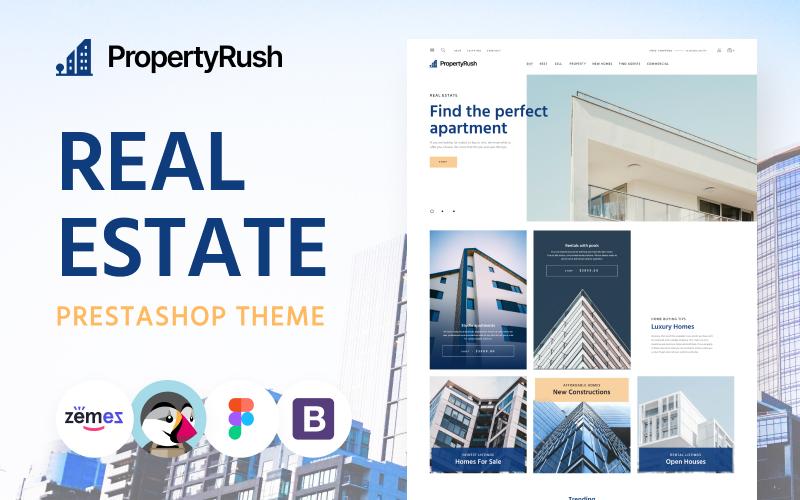 PropertyRush - PrestaShop-thema voor onroerend goed eCommerce