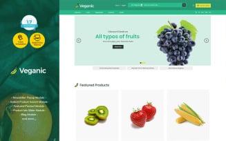Veganic Organic Food - Fruit Vegetable Prestashop Theme
