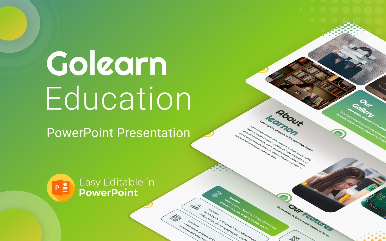 Golearn Education PowerPoint Presentation Template