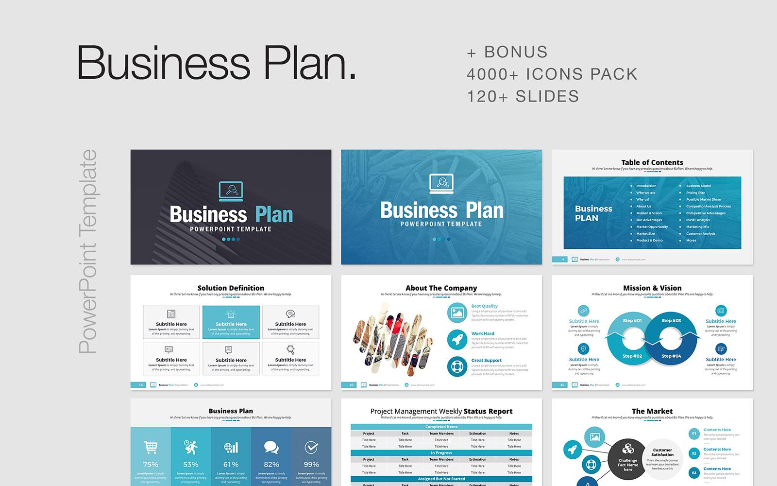 Businessplan Infographic PowerPoint