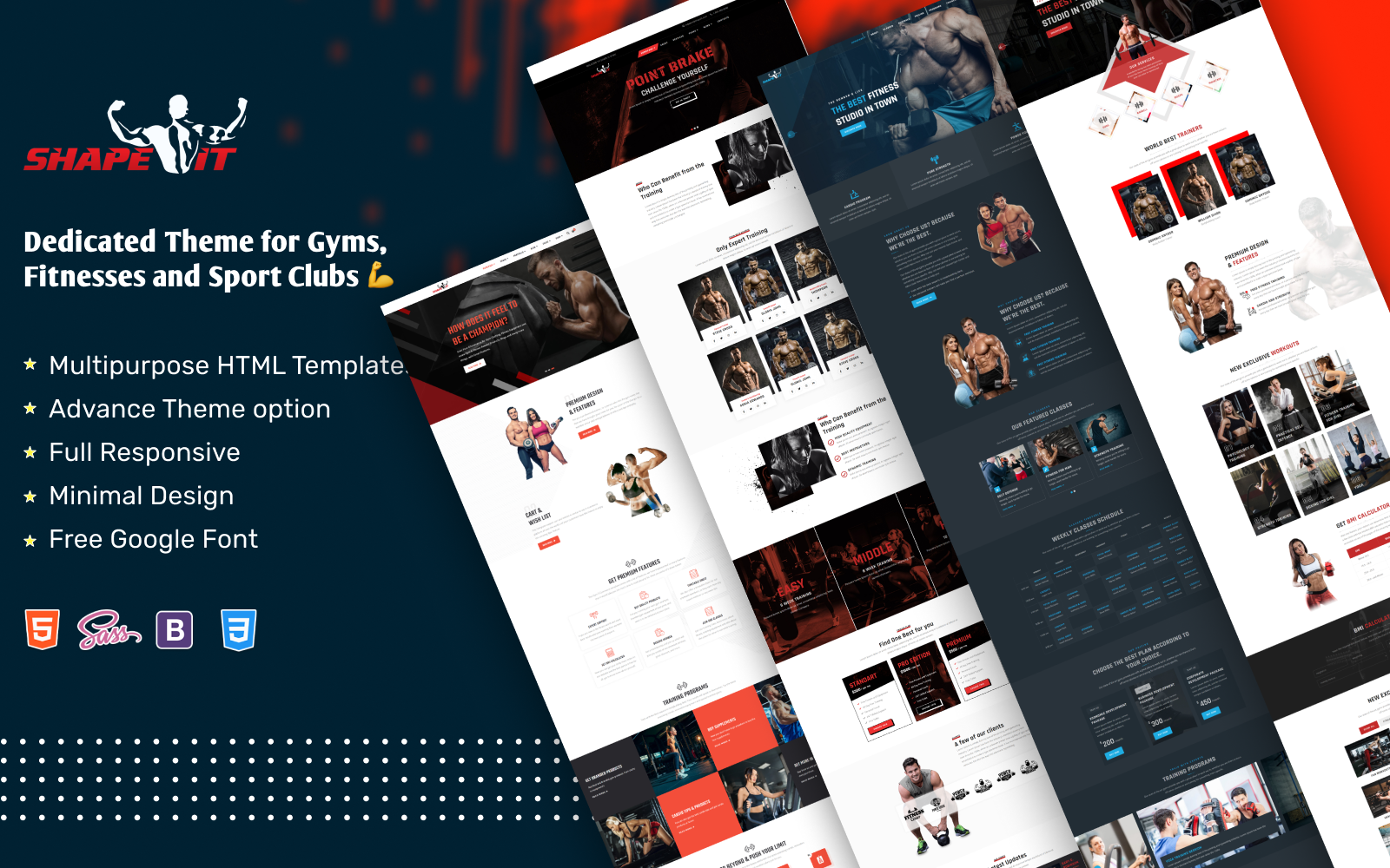 Gym And Fitness Website Template   HTML5