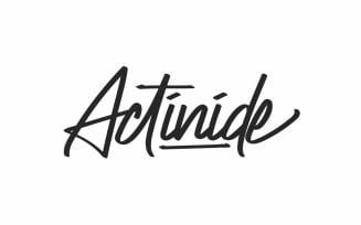 Actinide Signature Script Font
