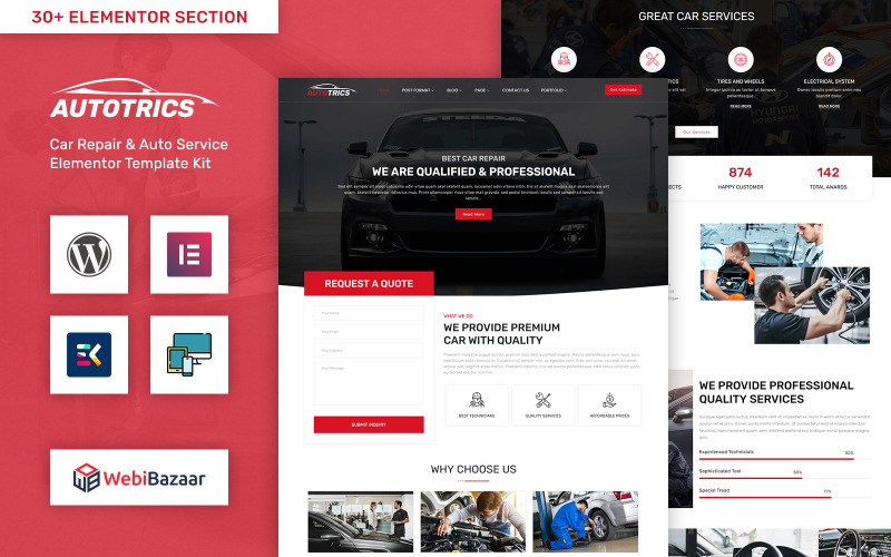 Autotrics - Automobile & Car Accessories Shop WordPress Theme