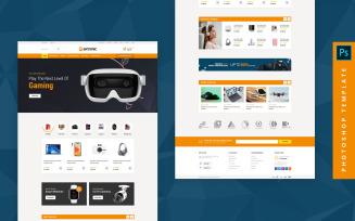 Axtronic - eCommerce Photoshop Template