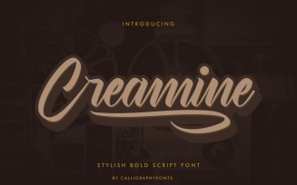 Creamine Lettering Calligraphy Font