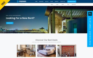 Free Propary - Real Estate Photoshop Template