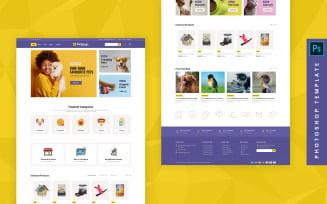 Petpup - eCommerce Photoshop PSD Template