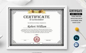 William Achievement Certificate Template