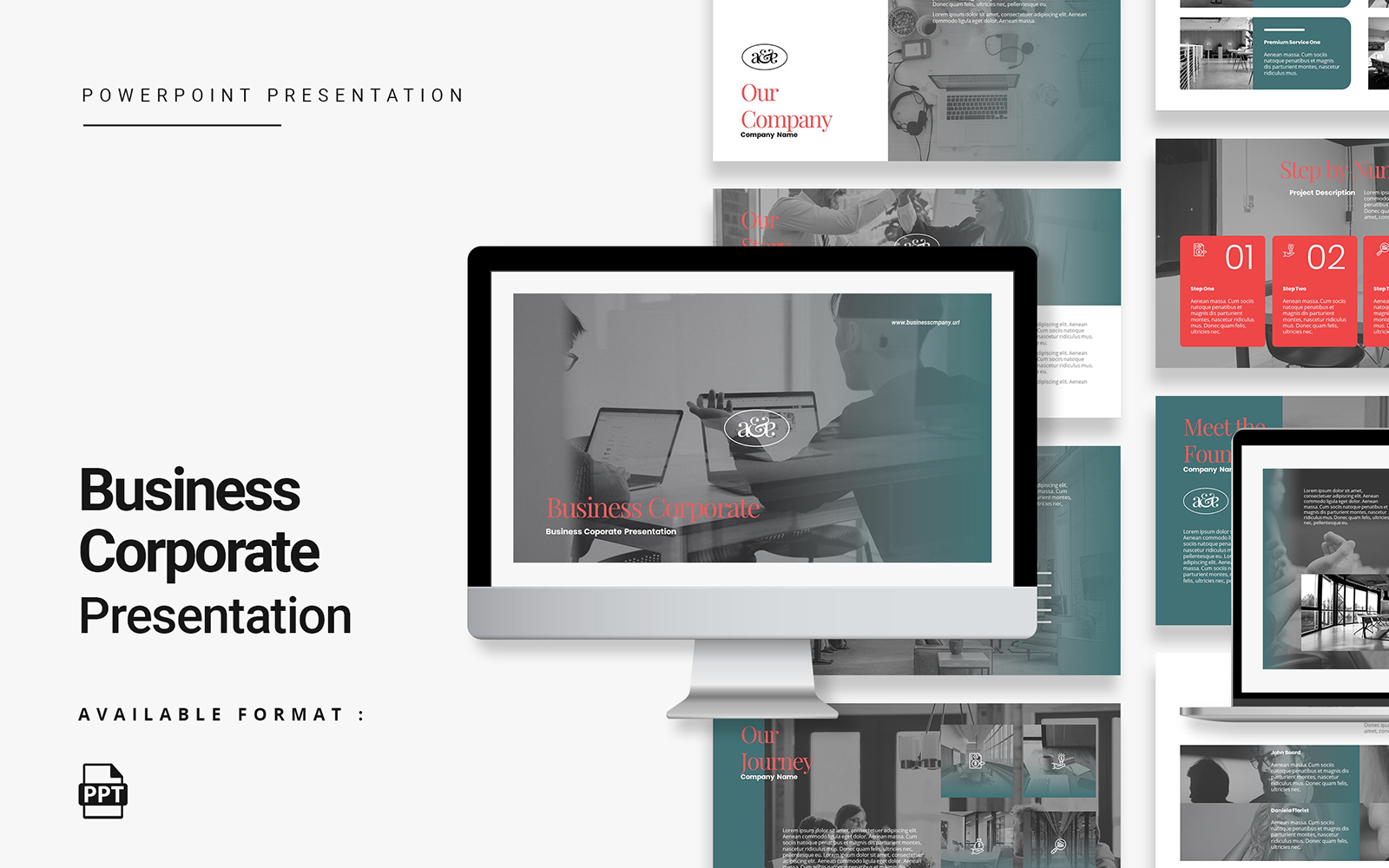 Sophisticated and Creative Business Corporate Presentation PwerPoint Template
