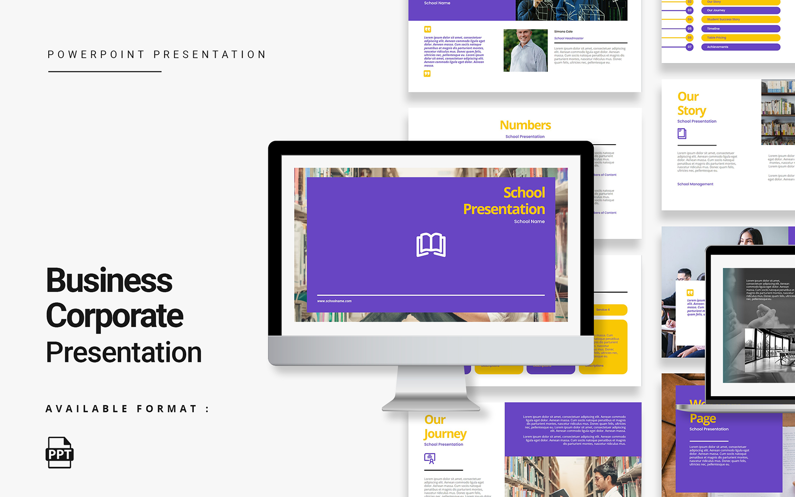 Modern School Presentation PowerPoint Template