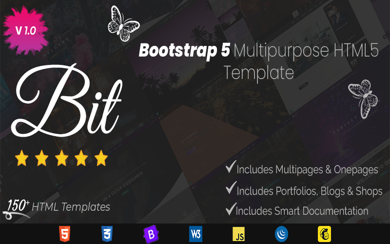 Bit - Multipurpose Business Services HTML Website Template