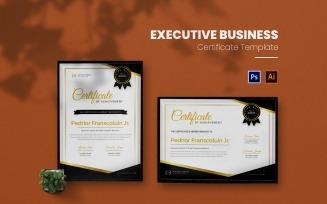 Elegant Black Certificate template