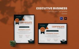 Executive Business Certificate template
