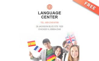 Free Language School Newsletter Template