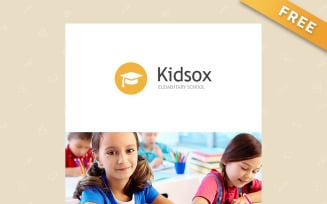 Kidsox - Free Primary School Newsletter Template