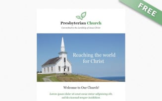 PresbyterianChurch - Free Email Newsletter Template for Church Community