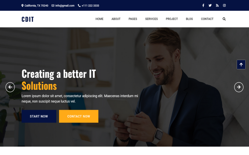 cdIT - IT Solution & IT Technology & Services HTML5 Template