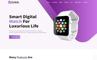 Nuxa - Product Landing Page