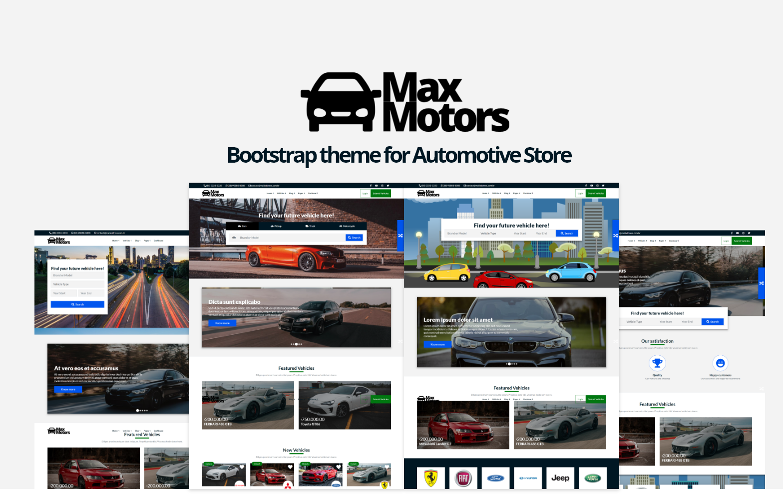 MaxMotors - Bootstrap Website template for Automotive Store