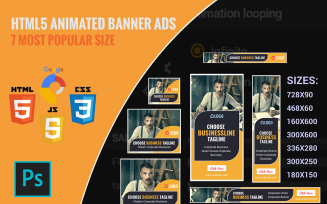 Business HTML5 Animated Banner Ads Templates