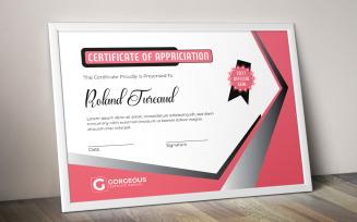 Classy Appreciation Certificate Template