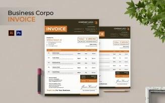 Business Corpo Invoice Print Template