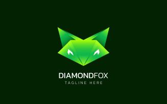 Diamond Fox - Green Logo Desgn template