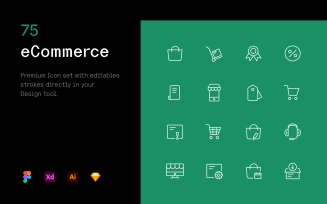 eCommerce - Iconset template