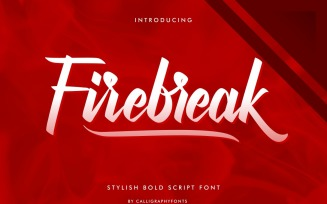 Firebreak Calligraphy Script Font