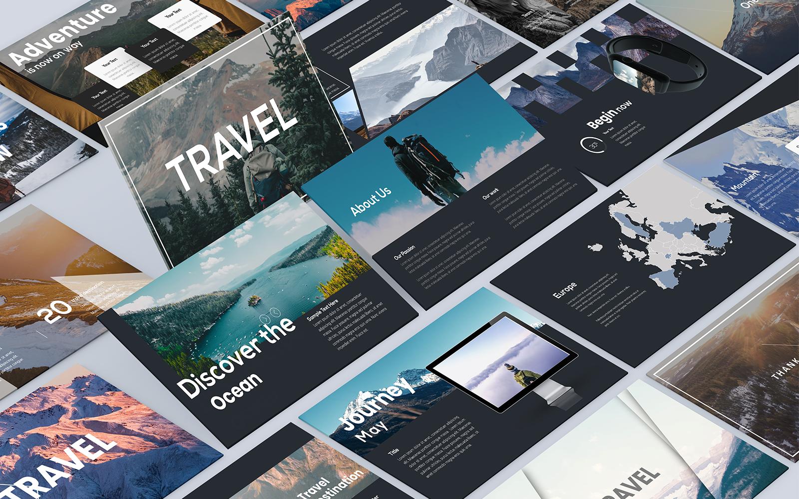 Travel Pitch Deck - Minimalist Multipurpose PowerPoint Template