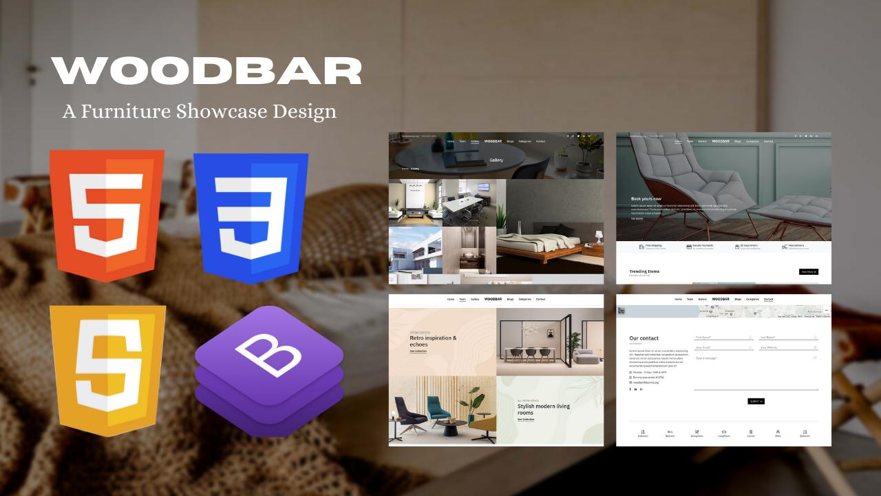 WOODBAR - A Modern Responsive Woodworks &  Furniture Showcase Website Template