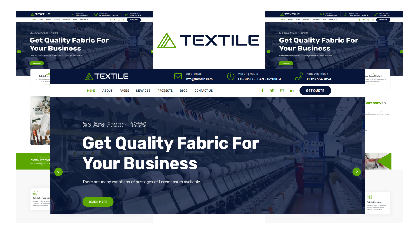 Textile - Textile Bootstrap 5 HTML Website Template