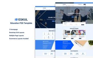 Eskul - Educational PSD Website