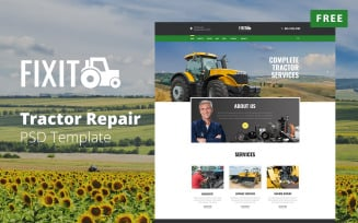 FIXIT - Tractor Website Design Free PSD