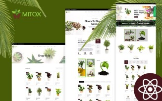 Mitox Gardening & Houseplants React Js Website Template