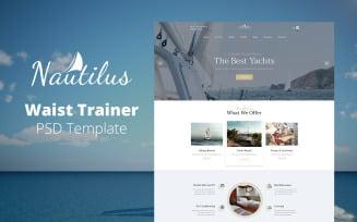 Nautilus - Yachting Website Template PSD