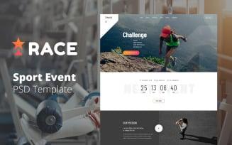 Race - Sport Event Management Website PSD Design Template